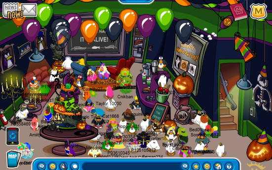 Club Penguin coffee shop