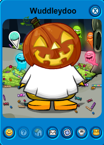 Club Penguin pumpkin hat
