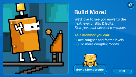 Club Penguin Bits and Bolts Membership